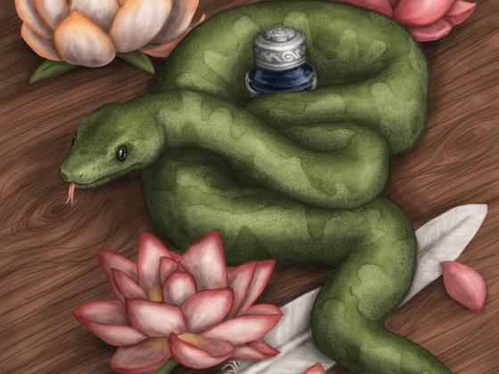Lotos-Schlange