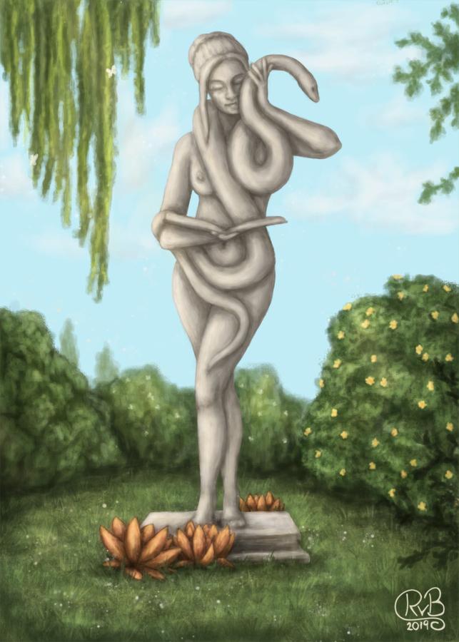Hesinde-Statue