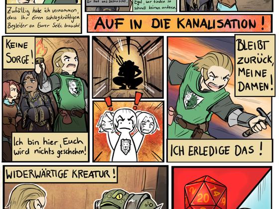 Minicomic: ThaNF - Held zu werden ist nicht schwer...