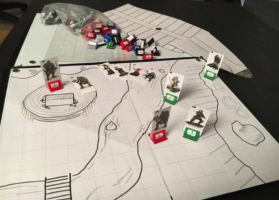 Pläne, Magnetboards und Spielfiguren