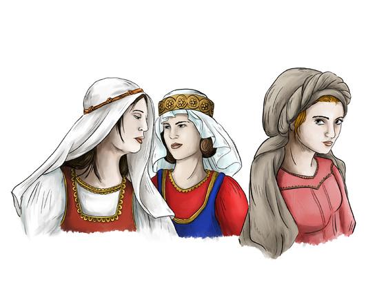 Frauen aus dem Bornland