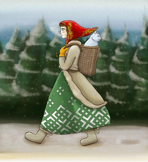 Bornländische Hexe auf Reisen