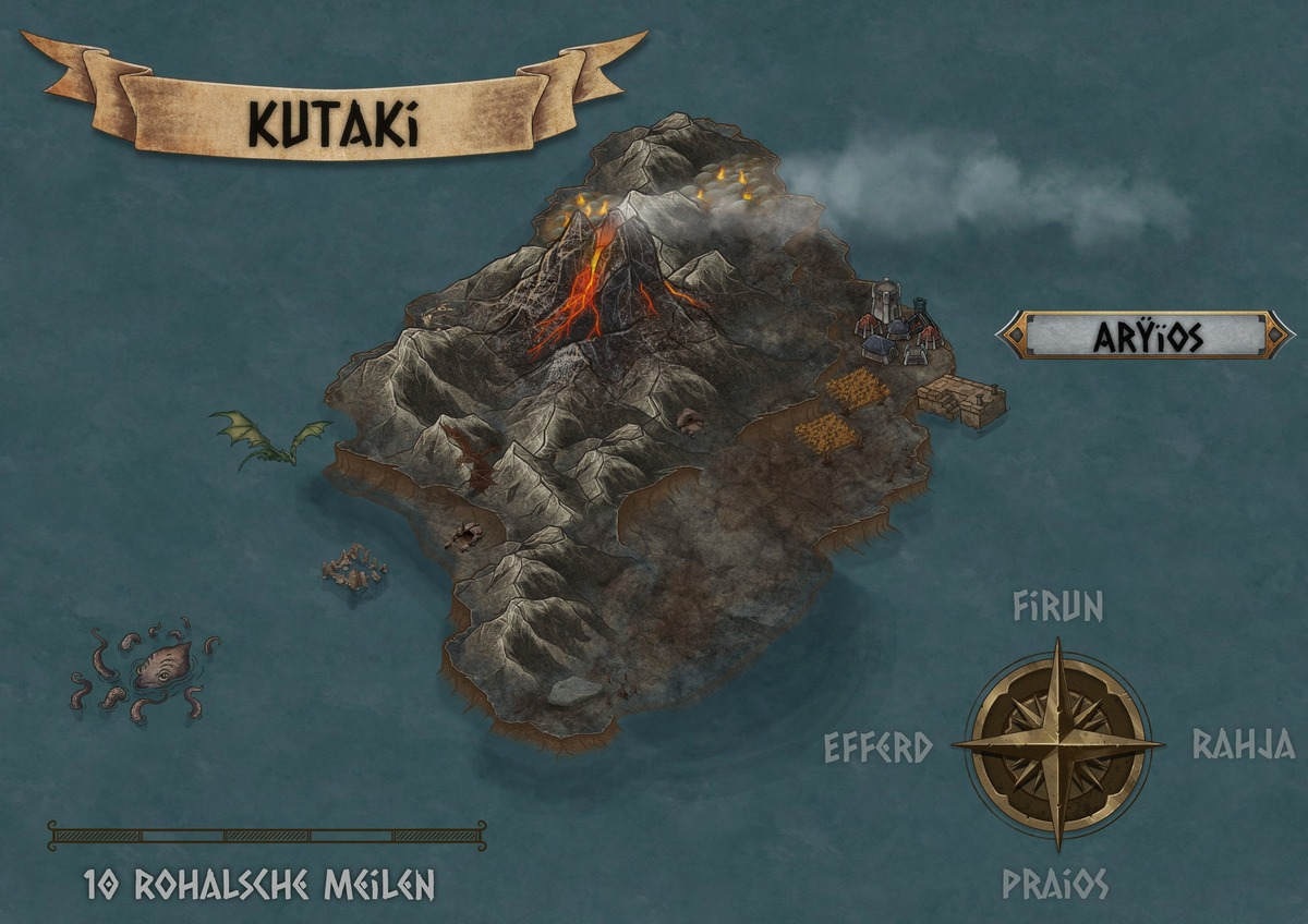 Kutaki, eine der Zyklopeninseln