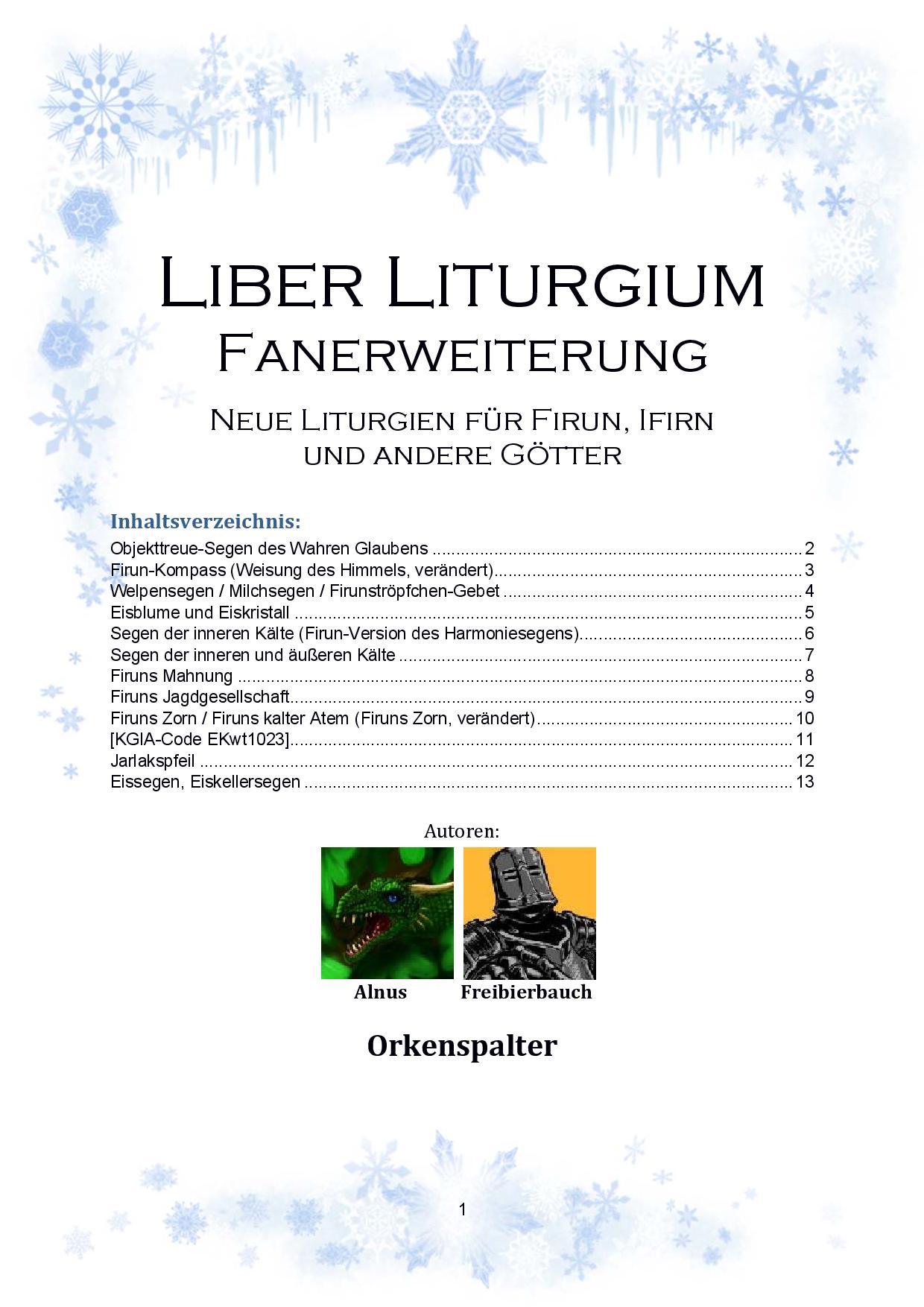 dsa liber liturgium pdf
